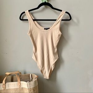 NWT Forever 21 Nude Beige Bodysuit